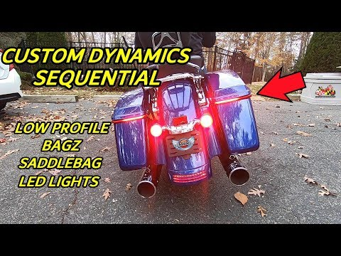 Custom Dynamics Sequential Low Profile BAGZ Saddlebag Lights