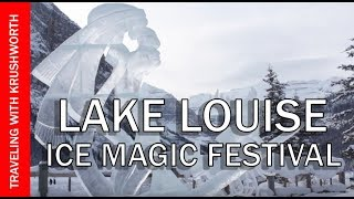 Winter in Banff National Park (Ice Magic Festival); Lake Louise Alberta Canada travel
