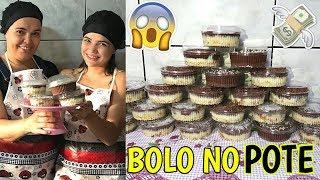 COMO FAZER BOLO NO POTE (GANHANDO DINHEIRO EM CASA) ♥ - Bruna Paula