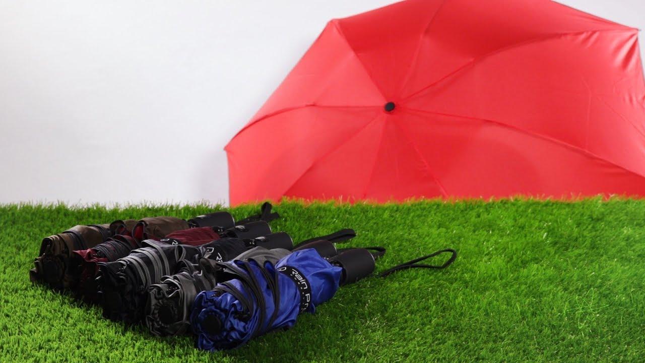 Inverted Umbrella with Tractor Cutting The Grass Print Car Reverse Folding Umbrella