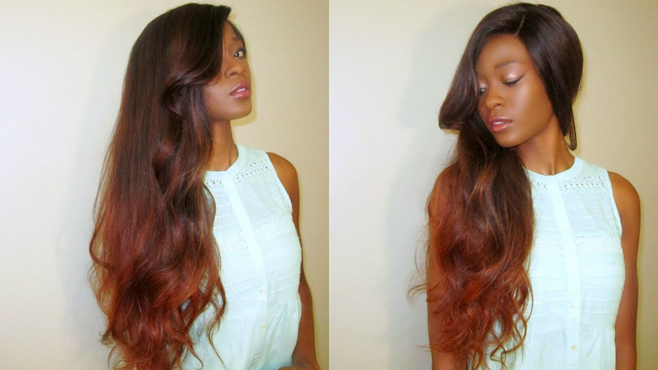 Diy copper fall ombre balayge irresitible me full lace wig youtube solutioingenieria Images