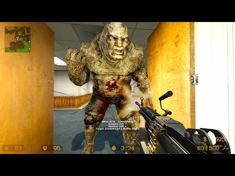 Counter Strike Source - Zombie Horde mod online gameplay on Office map