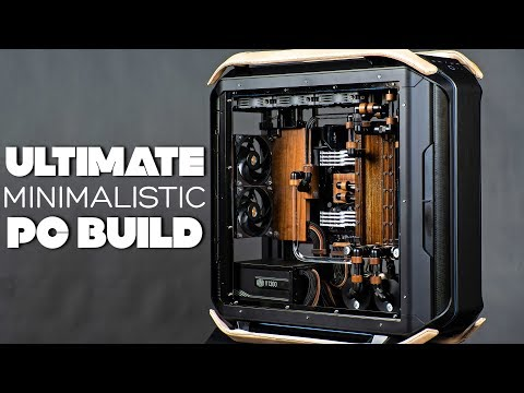 Ultimate MINIMALISTIC Custom Water Cooled Gaming PC Build -Time Lapse