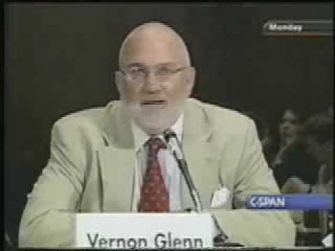 Vernon Glenn testifies before the U.S. Senate