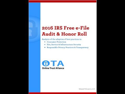 2016 Audit of  Free  eFile Tax Sites