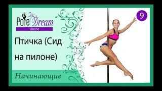 9 - Птичка. Видео урок Pole Dance для начинающих