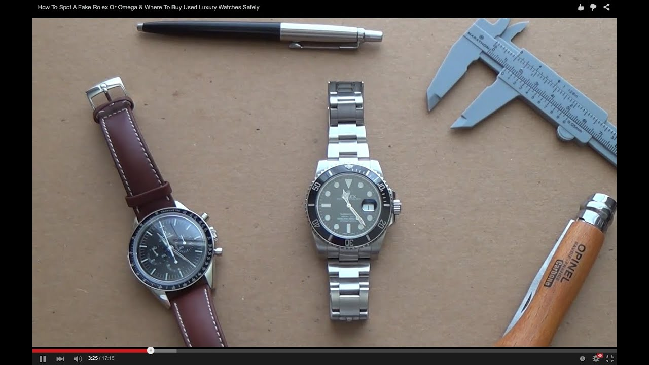 Best place to buy replica watches - How To Spot A Fake Rolex Or Omega Best Place To Buy Affordable Used Luxury Watches Safely Youtube