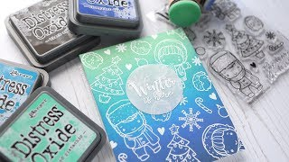 Easy Card Design for Outline Stamps -- No need to color!