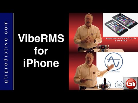 Vibration Analysis on iPhone: VibeRMS by GTI Predictive Technology