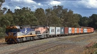 EMD and GE Diesels in the North East and Goulburn Valley: Australian Trains