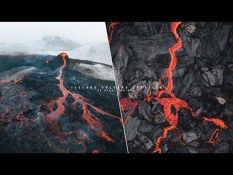 Εκπληκτική πτήση drone πάνω από ενεργό ηφαίστειο στην Ισλανδία