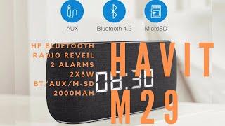 Havit M29, le Haut parleur Bluetooth Radio Réveil, Friday Unboxing By GLG