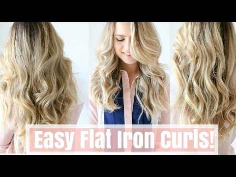 How to: Easy Flat Iron Curls No Twisting
