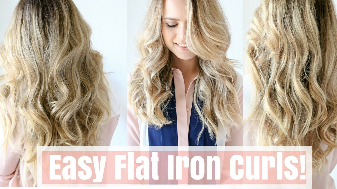 How To Easy Flat Iron Curls No Twisting Youtube