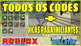 ALL CODES OF Tower Defense Simulator and TIPS FOR BEGINNERS! Roblox