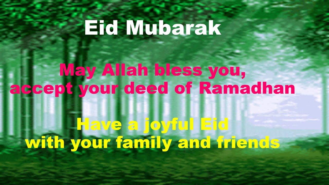 Video Ucapan Hari Raya Idul Fitri Dalam Bahasa Inggris Youtube