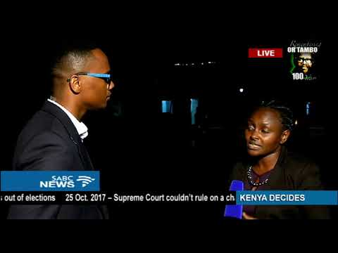 SABC News reporters wrap up Kenya re-election day 1