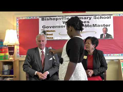 Governor McMaster Meets With Students From Bishopville Primary School