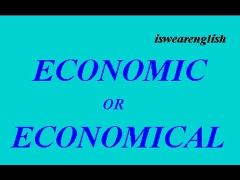 Reupload of Economic or Economical - ESL British English Pronunciation