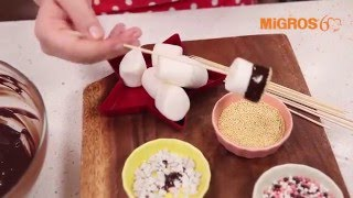 Çikolatalı Marshmallow Çubukları Tarifi