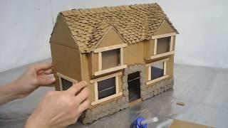 Двухэтажный домик из картона для детей