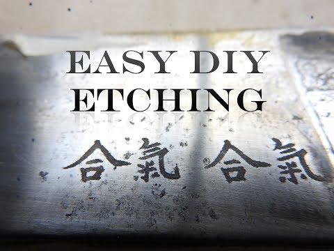 Easy DIY stencils for salt water Metal Etching
