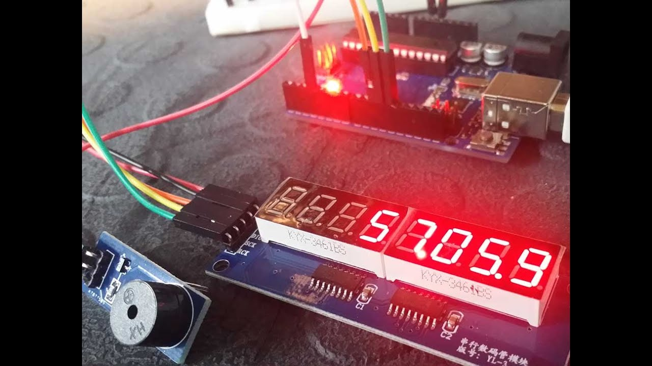 Lets Make An Arduino Countdown Timer With The Ticking Sound Digital Count Down Circuit Using Pic Microcontroller Tutorial