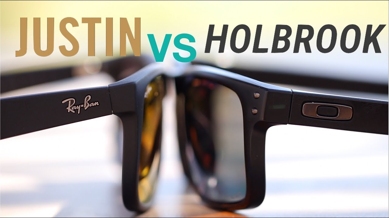 bd67094ff94 Ray-Ban Justin vs Oakley Holbrook - YouTube