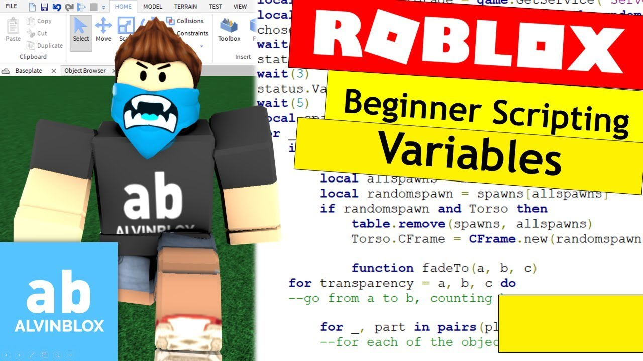 how to create variables in roblox