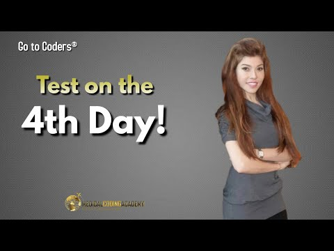 Medical Coding: 3 Day Course & Test on the 4th Day
