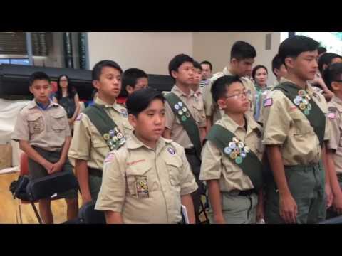 Lễ Trao Đẳng Hiệu Đại Bàng Cho Thiếu Sinh Phạm Nguyễn Lâm Phong