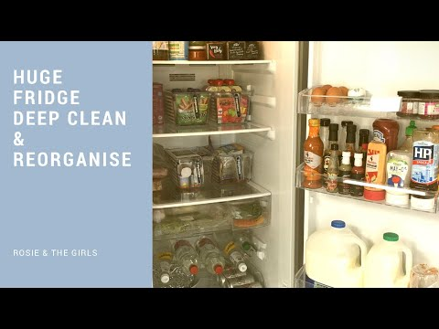FRIDGE FREEZER DEEP CLEAN & REORGANISE