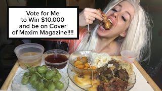 Asian Meets Western Meat Feast Mukbang ( Mukluck of Goodies) Candy K + HUGE ANNOUNCEMENT!!!