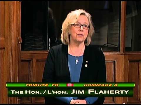 Elizabeth May: end of her tribute to Jim Flaherty