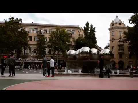 Baku Nizami street Fountains square( short video)