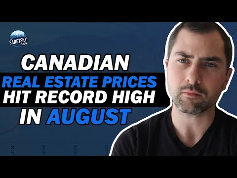 Canadian Real Estate Prices Hit Record High In August