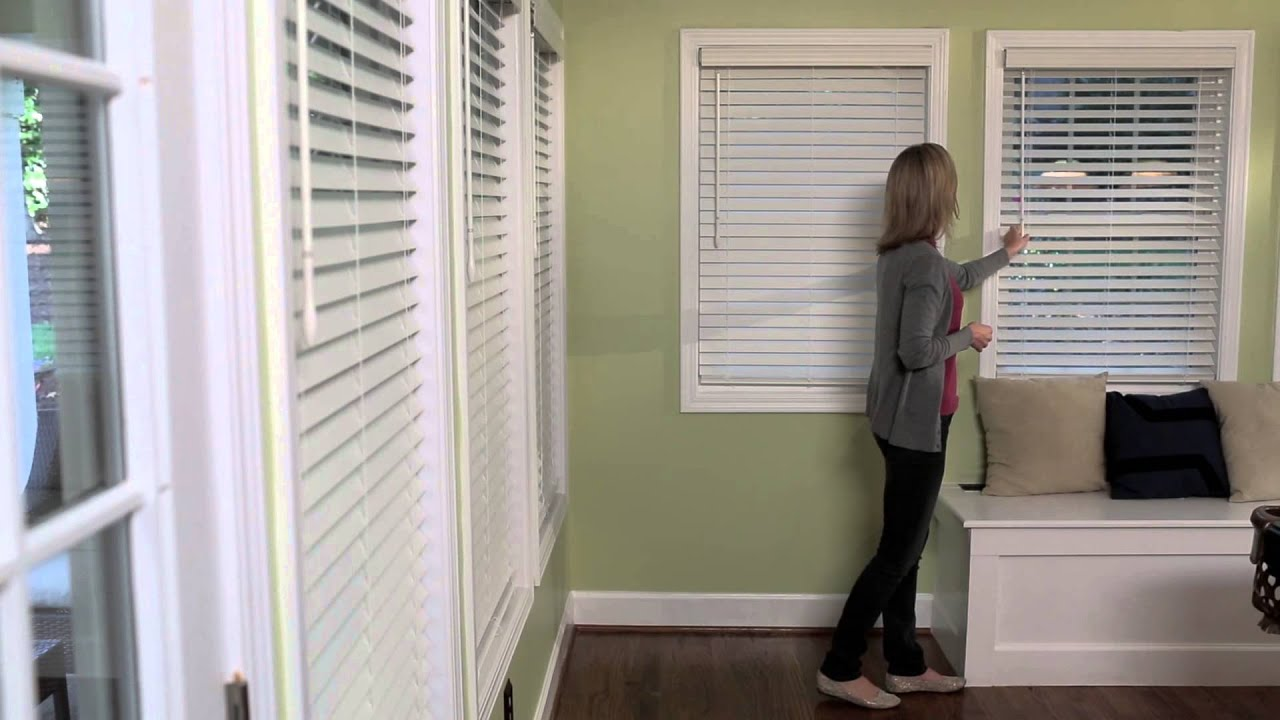 Levolor 174 Cordless Faux Wood Blinds Youtube
