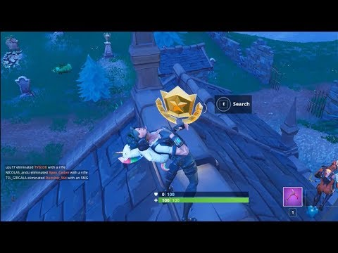 Follow The Treasure Map Found In Snobby Shores Fortnite Week 5 S4 Challenge