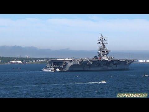 USS Dwight D. Eisenhower Aircraft carrier in halifax June 28th 2017