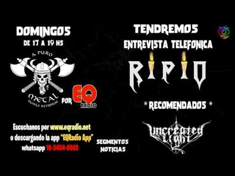 RIPIO en A puro metal, jamas rendirse / Radio EQ - Chacarita - Buenos Aires