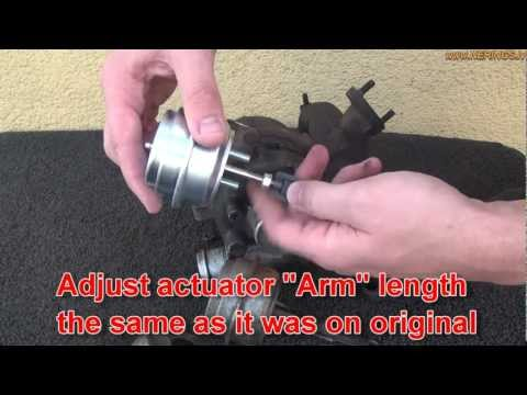 How to change Turbocharger wastegate actuator