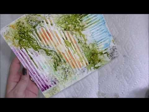 Creating Texture With Corrugated Cardboard + Inktense Blocks + Magicals + Spray Inks - Art Journal