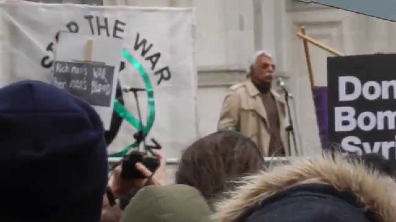 Image result for november 2015 stop the war coalition demonstration tariq ali