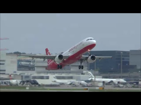 [HD] Atlas Global A321 evening takeoff at Zurich Airport - 23/05/2015