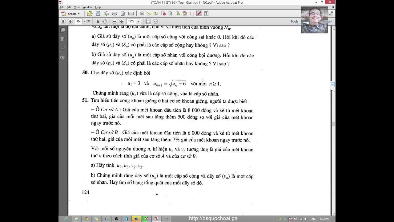 [Toán 11 GT NC] Chương 3 – Dãy số, cấp số (5) – Ôn tập chương và kiểm tra một tiết #toan11chuong3
