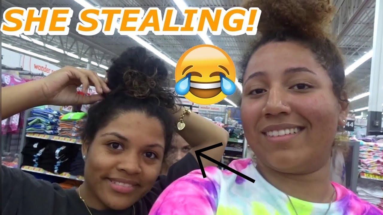 Nose Piercing Vlog Stealing Prank On My Tia In Walmart Youtube