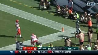 Carson Wentz' Rainbow Pass to Nelson Agholor for the Huge TD! | Browns vs. Eagles | NFL