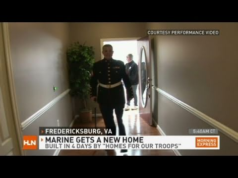 HLN: Wounded Marine's home built in 4 days