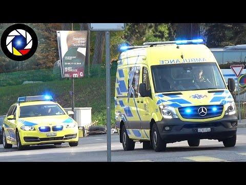 Ambulance 705 Genève // Geneva EMS Response