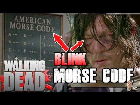 The Walking Dead Season 7 Daryl Blinked Morse Code Message to Rick!